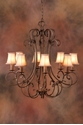 Picture of French Provincial Pendant 8 LT (DO5047/P8/SHADE) MDA Lighting