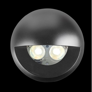 Picture of Round eyelid cover in anodised aluminium to suit DEKA-BODY (19436) Domus Lighting