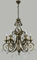 Picture of Memphis 9 Light Crystal Chandelier (Memphis/9Lt) Lighting Inspirations