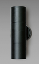 Picture of Bondi Exterior Black Up/Down Wall Pillar Light - 240V (SE7122/GU10 BK) Sunny Lighting