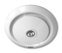 Picture of Gyro White Round Bathroom Exhaust Fan With Light (MXFLG25W) Martec