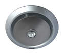 Picture of Gyro Silver Round Bathroom Exhaust Fan With Light (MXFLG25S) Martec