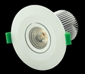 Picture of White Dimmable 10W LED Downlight Kit (DLK10-WHT 20496 20497) Domus Lighting