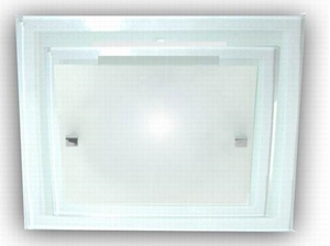 Picture of Double Glass 2 Light 40CM Square Oyster (AC1128/2/40) Ace Lighting