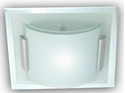 Picture of Square & Curve Glass 1 Light 25CM Square Oyster (AC1135/1/25) Ace Lighting