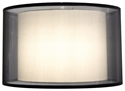"Picture of Kisa Black 20"" Shade (SH-20-20-12 BK/WH) Oriel Lighting"