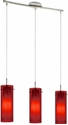 Picture of Amore Red 3 Light Pendant (0276-Italux) V & M Imports
