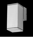 Picture of Alpha 1 Exterior 240V LED Single Fixed Wall Light (19396 19400 19401) Domus Lighting