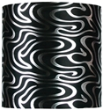 "Picture of Black Silver Swirl 12"" Pendant Shade (SH-12-12-12 BKSIL) Oriel Lighting"