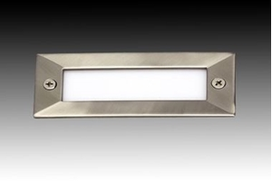 Picture of Ben Rectangular Mini Exterior LED Steplight (LED316) Gentech Lighting