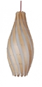 Picture of Swirvol 1 Light Wood Pendant (Swirvol) Fiorentino Lighting
