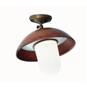 Picture of PORTICO Exterior Brass Copper Ceiling Light (221.12.ORB_T) IL Fanale