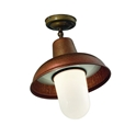 Picture of CONTRADA Exterior Brass Copper Ceiling Light (243.03.ORB_T) IL Fanale