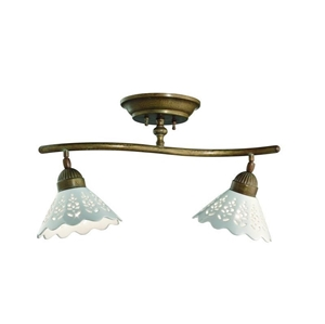 Picture of FIORI DI PIZZO Brass Ceramic Ceiling Light (065.22.OC) IL Fanale