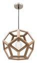 Picture of Peeta 1 Light Small Natural Timber Pendant (MG4231S) Mercator Lighting