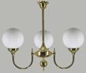 Picture of Kew 3 light Solid Brass Pendant Lode International