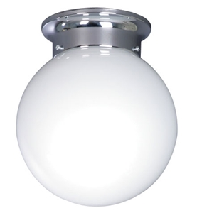 "Picture of 8"" Opal Ball DIY Batten Fix (MA1808) Mercator Lighting"