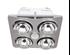 Picture of Ardene Quattro Bathroom Heater with Exhaust & Light (BS124CSW) Mercator Lighting