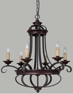 Picture of Columbus 6 Light Pendant (Columbus/PD/6L) Lighting Inspirations