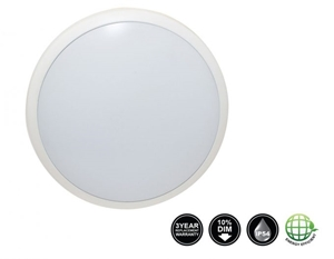 Picture of Eclipse 16W Dimmable LED Oyster IP54 (TLEO016WD) Tradetec