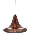 Picture of Lamina 2 Copper Coloured Glass Pendant CLA Lighting