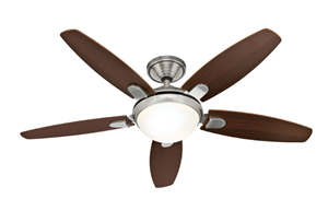 """Picture of Contempo 52"""" 1320mm Ceiling Fan With Light Hunter Fan"""