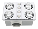 Picture of Magnus Quattro Bathroom Heater with Exhaust & LED Light (BH144ESW) Mercator Lighting