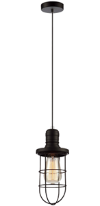 Picture of Blackband1 Caged Pendant CLA Lighting