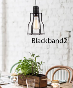Picture of Blackband2 Iron Cage Black Angled Pendant CLA Lighting