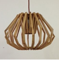 Picture of Ragusa Small 1 Light Wood Veneer Pendant Fiorentino Imports