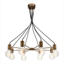 Picture of Colorado 8 Light Aged Brass Pendant (MG7238BRS) Mercator Lighting