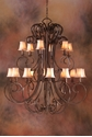 Picture of French Provincial Pendant 18 LT (DO5047/P18/SHADE) MDA Lighting