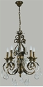 Picture of Memphis 5 Light Crystal Chandelier (Memphis/5Lt) Lighting Inspirations