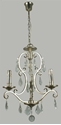 Picture of Angelique 3 Light Crystal Chandelier (Angelique/3Lt) Lighting Inspirations