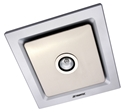 Picture of Tetra Silver Square Bathroom Exhaust Fan With Light (MXFLT25S) Martec