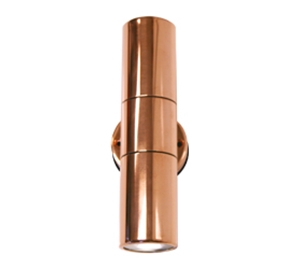 Picture of Cassia Copper LED Exterior Up/Down Wall Pillar Light (LS121LED) Lumascape