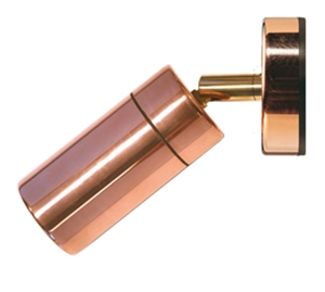 Picture of Pagoda Copper LED Exterior Single Adjustable Wall Pillar Light (LS321LED) Lumascape