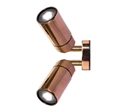Picture of Pagoda Copper LED Exterior Double Adjustable Wall Pillar Light (LS321-2LED) Lumascape