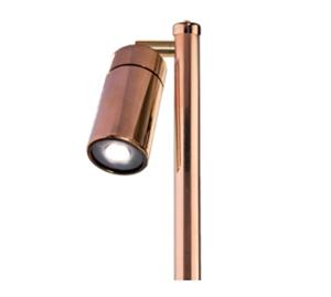 Picture of Grevillea Copper LED Single Adjustable Spike Spotlight (LS192LED) Lumascape