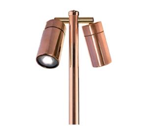 Picture of Grevillea Copper LED Double Adjustable Spike Spotlight (LS192-2LED) Lumascape