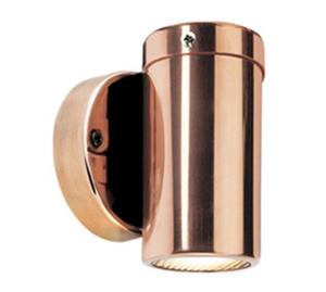 Picture of Hakea Copper Exterior Single Fixed Wall Pillar Light (LS201A-3) Lumascape