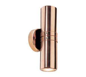 Picture of Cassia Copper Exterior Up/Down Wall Pillar Light (LS121A-2) Lumascape
