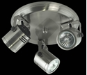 Picture of Barrel 3 Light Round Plate Low Voltage Spotlight (LV-3704/3R) Domus Lighting