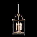 Picture of Charles Bevelled Glass 3 Light Square Lantern (HL3-GB) Robert Kitto