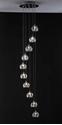 Picture of Champagne 10 Light Spiral Pendant (Champagne-10-Round) Fiorentino Lighting