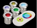 Picture of Vivid RGB LED Deck Lights Five Pack (21103) Domus Lighting
