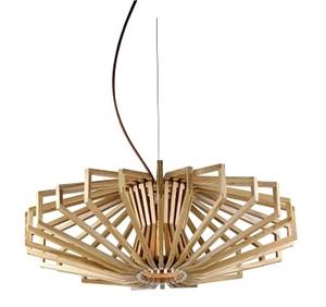 Picture of Agry 1 Light Wood Veneer Pendant Fiorentino Lighting