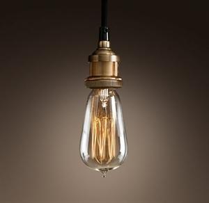 Picture of Brass 1 Light Pendant (Single-1P) Fiorentino Lighting
