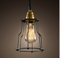 Picture of Cage 1 Light Brass Pendant (Cage-1P) Fiorentino Lighting