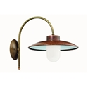 Picture of CALMAGGIORE Exterior Brass Copper Wall Light (234.03.ORB_T) IL Fanale